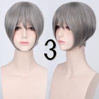 コスプレウィッグ ショートストレートウィッグ33cm   シルバー  銀髪
