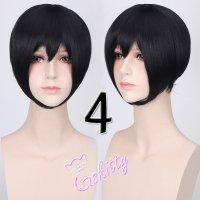 コスプレウィッグ ショートストレートウィッグ33cm   ナチュラルブラック 黒髪