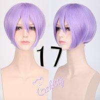 コスプレウィッグ ショートストレートウィッグ33cm  ラベンダーパープル 薄紫
