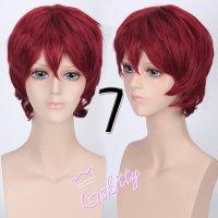 コスプレウィッグ ショートウィッグ28cm   ワインレッド 赤髪