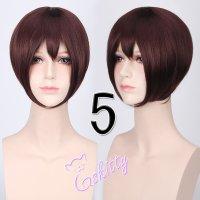 コスプレウィッグ ショートストレートウィッグ33cm   ココアブラウン 茶髪