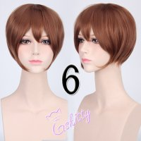 コスプレウィッグ ショートストレートウィッグ33cm   モカブラウン 茶髪