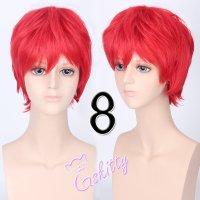 コスプレウィッグ ショートウィッグ28cm   真紅レッド 赤髪