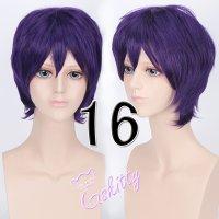 コスプレウィッグ ショートウィッグ28cm  ダークパープル 濃紫