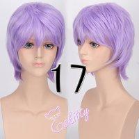 コスプレウィッグ ショートウィッグ28cm  ラベンダーパープル 薄紫
